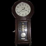 "AUTHENTIC ""Webb C. Ball Co. Jeweler's Regulator / Seth Thomas Model No. 3 "", with Nickel Plated Hardware Upgrade in a Mahogany Case Circa 1890 !!!"