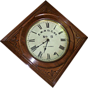"""Fort Worth & Denver City Railway * No. 5"" Company marked Seth Thomas Gallery Clock Date Stamped 1893 !!!"