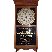 "Advertising ""Calumet Baking Powder"" Store Regulator Clock with Calendar Day of Month !!!"