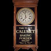 "Advertising ""Calumet Baking Powder"" Store Regulator Clock with Calendar Day of Month !!!"