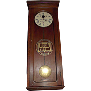 "Authentic ""Chicago,Rock Island, and Pacific Railway"" E. Howard*Boston Model No. 89 Regulator in a Solid Oak Case circa 1910 !!!"