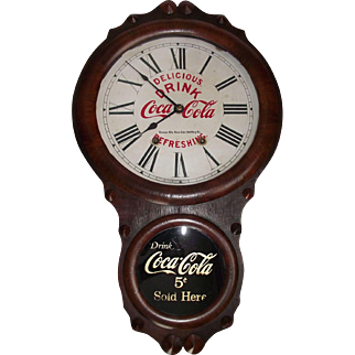 "Rare ""Kansas City Coca-Cola Bottling Company"" 8 Day Time & Strike Advertising Clock in a ""Seth Thomas Office Model"" Case, circa 1910's !!!"