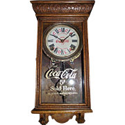 "Rare Salesman Sample Size Advertiser Clock for ""Coca Cola"" marked on the Dial & Glass Tablet, Circa 1915-1930 !!!"