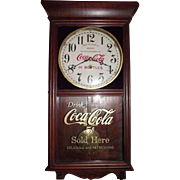 "Combination  ""Coca Cola & Woolworth"" Store Advertising Clock marked on the Dial with a 5 Cent Priced Glass Tablet Circa 1920-1930's !!!"