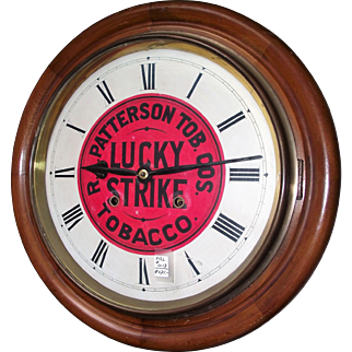 "Lucky Strike Advertising Gallery Clock made by the ""Sessions Clock Co."" circa 1925 !!!"