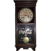 "Standard Advertising ""Coca Cola Store Regulator"" Clock with Time & Hourly Strike made Circa 1925 !!!"