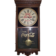 "Fancy Cased Advertising ""Coca Cola Store Regulator"" Clock made Circa 1925 !!!"