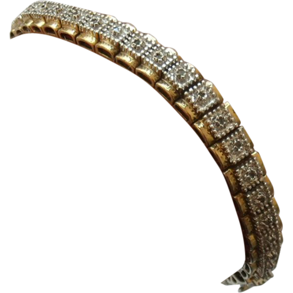 .5 CT Diamond & Sterling Vermeil Tennis Bracelet