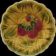 Vintage Sarreguemines Majolica PLate