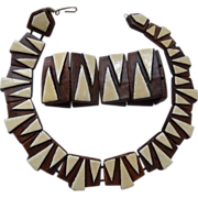 Vintage Hawaiian Ceramic Necklace & Bracelet