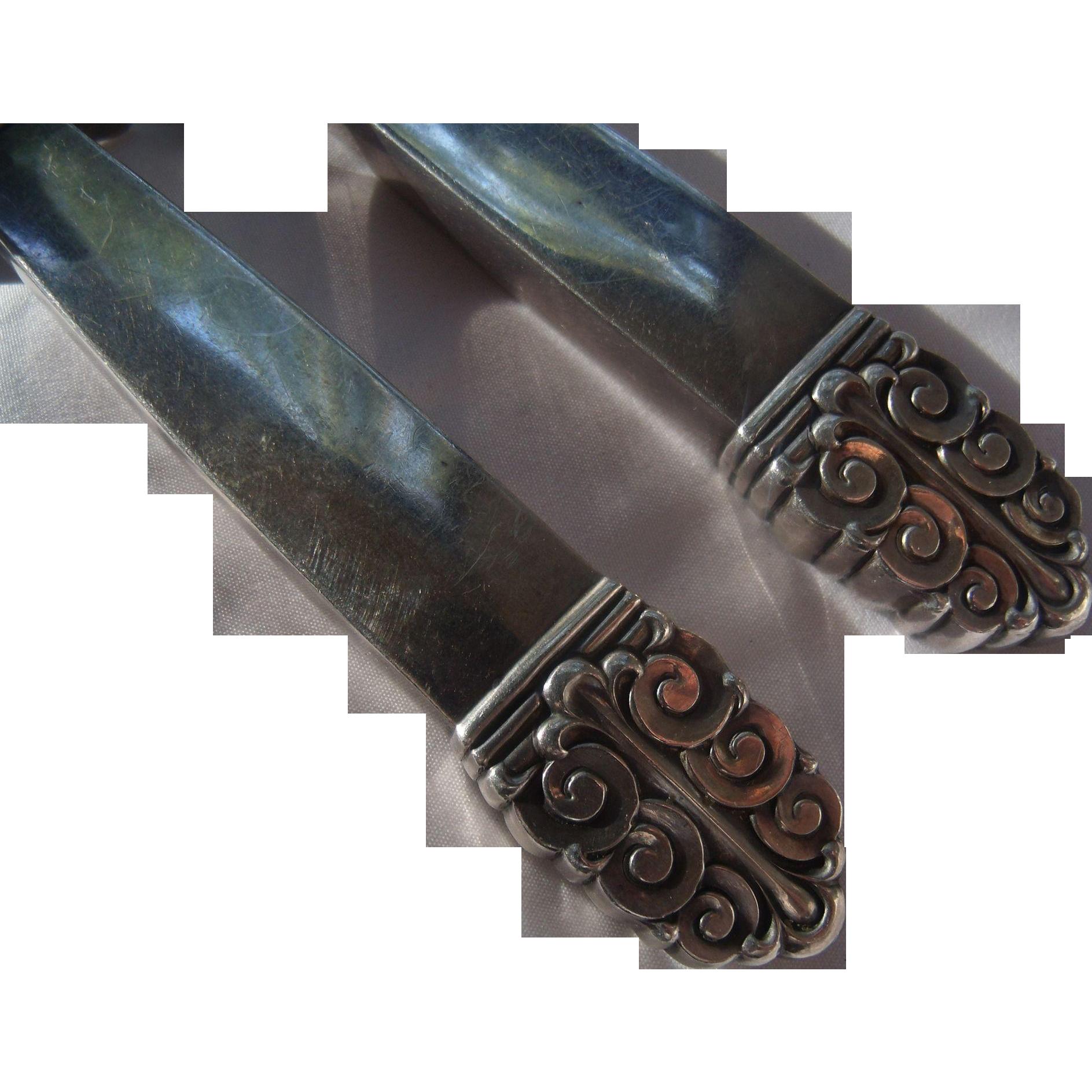 Handsome Sterling Carving Cutlery Set