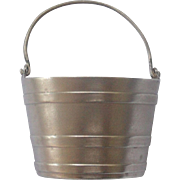 Cute English Sterling Bucket Salt