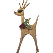 Mylu Mid Century Moderne Reindeer Brooch