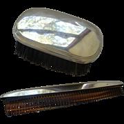 Men's Gorham Sterling Silver Brush & Comb Set