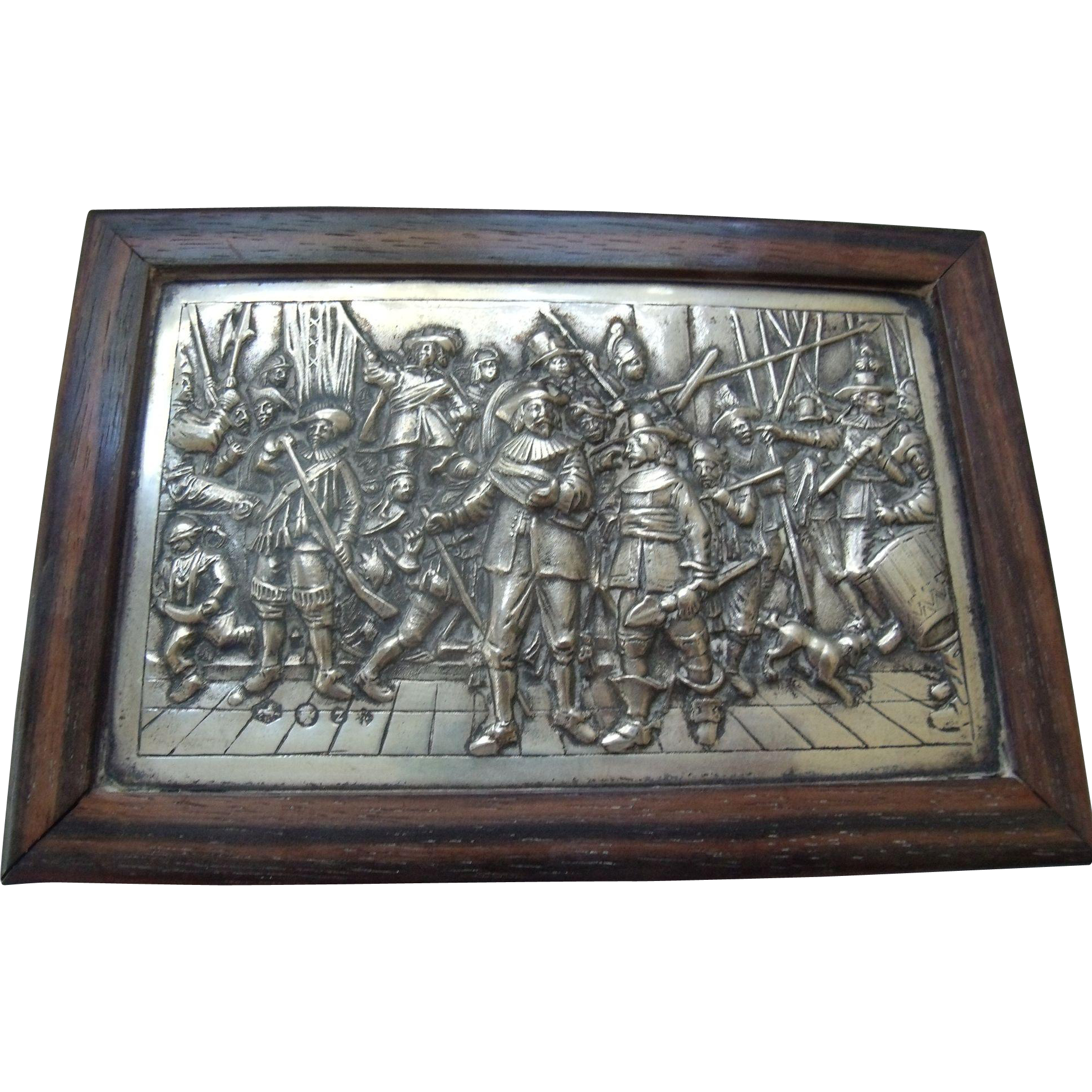 Dutch Silver & Wood Rembrandt Box