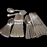 26 pcs Sterling Silver Flatware Set Durgin
