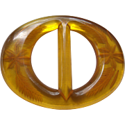 Reverse Carved Bakelite Buckle