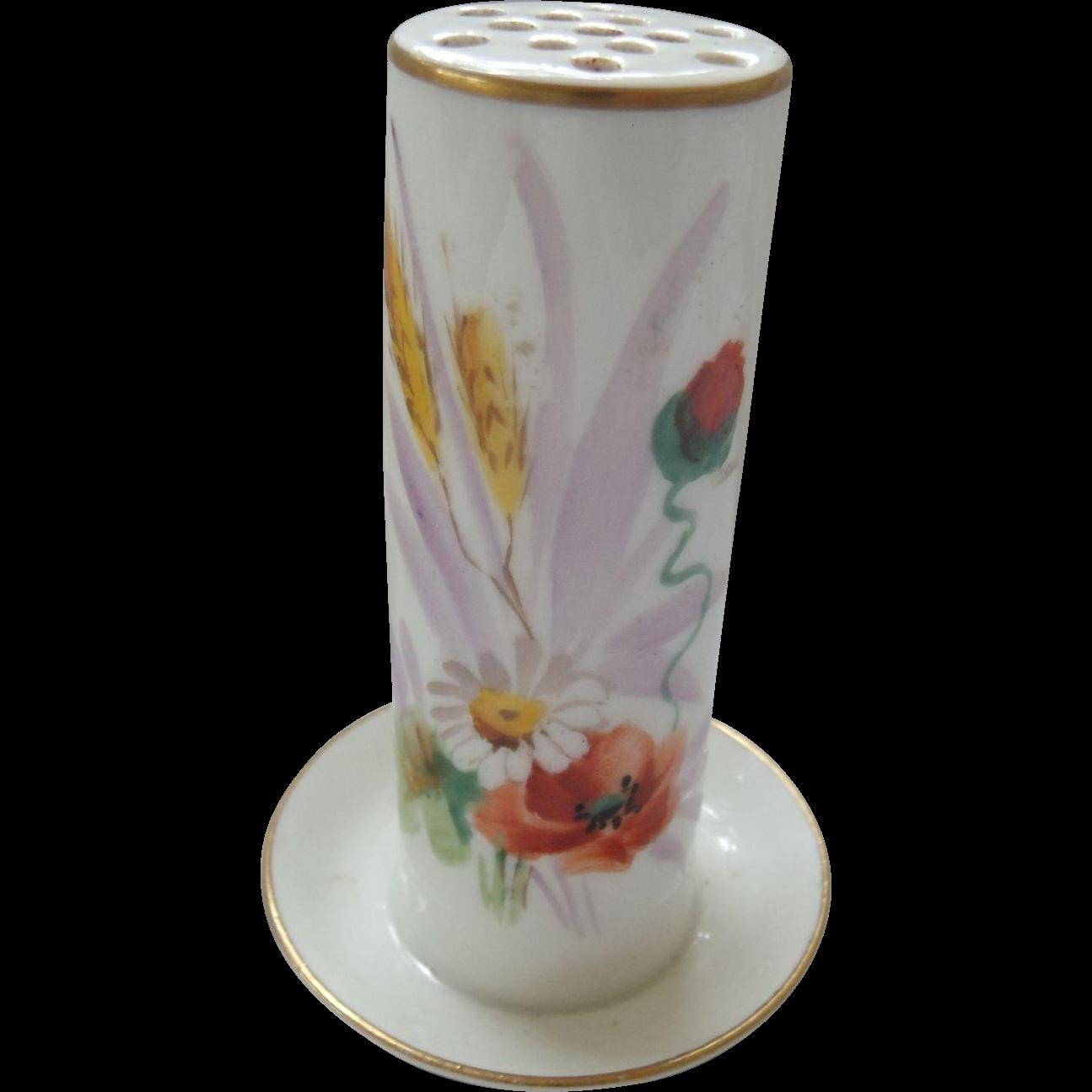 Limoges France Porcelain Hat Pin Holder