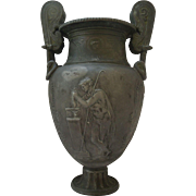 French Neoclassical Metal Urn Vase 19th C