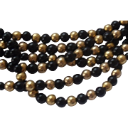 14k Gold & Onyx Torsade Necklace