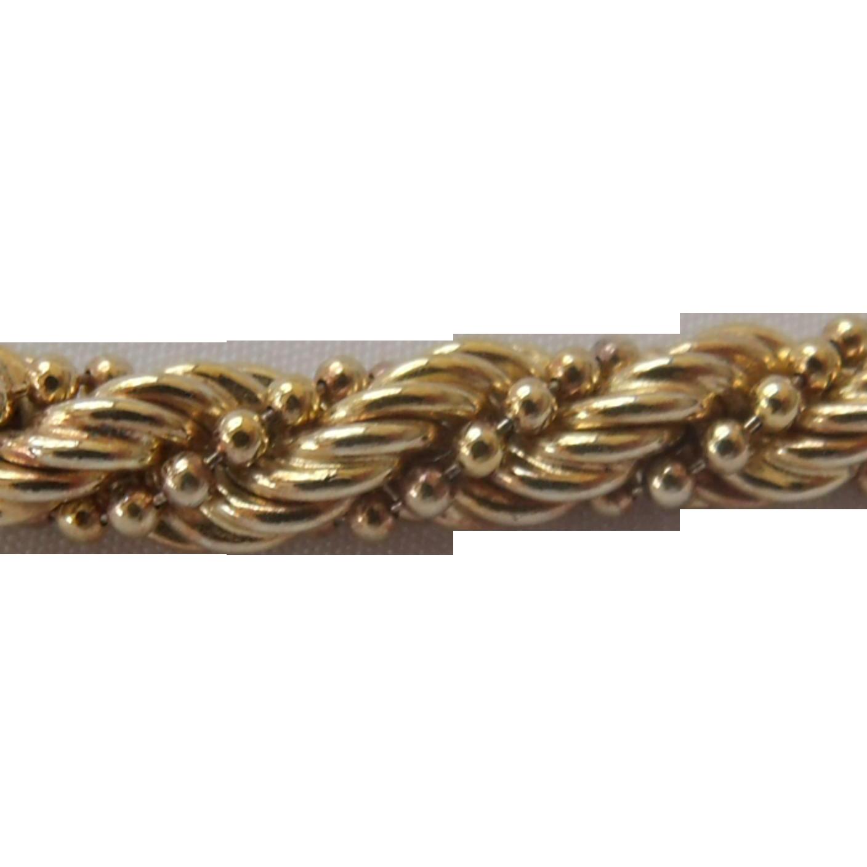 Milor Thick Sterling Silver Vermeil Necklace