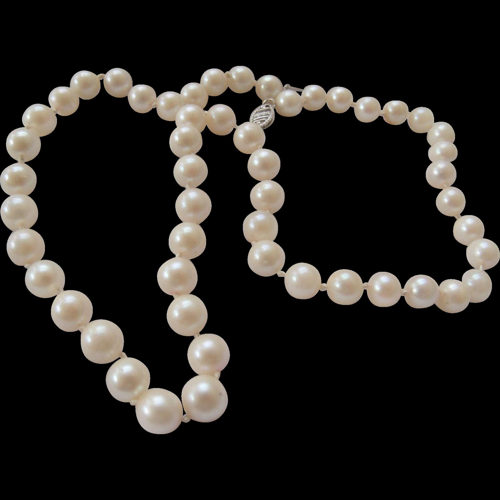 6mm Cultured Akoya Pearls 10K Clasp