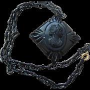 Galalith Cameo Pendant