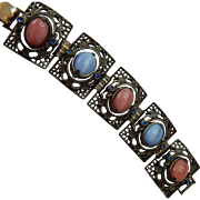 Unique! Chunky Flip Stone Reversable Bracelet