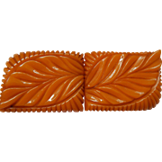 Heavily Carved Bakelite Buckle