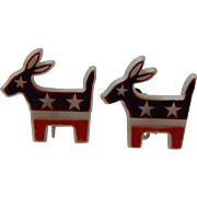 Vintage Political Donkey Earrings