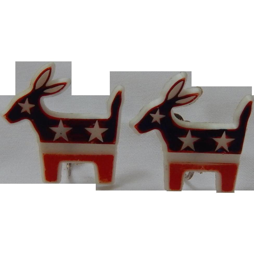 Vintage Political Donkey Earrings