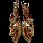 Coro Sterling Horse Duette & Earrings Book Piece!