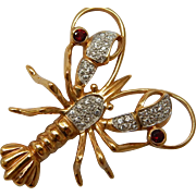 Seta Pave Crystal Lobster Brooch
