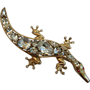 Coro Craft Sterling Alligator Brooch