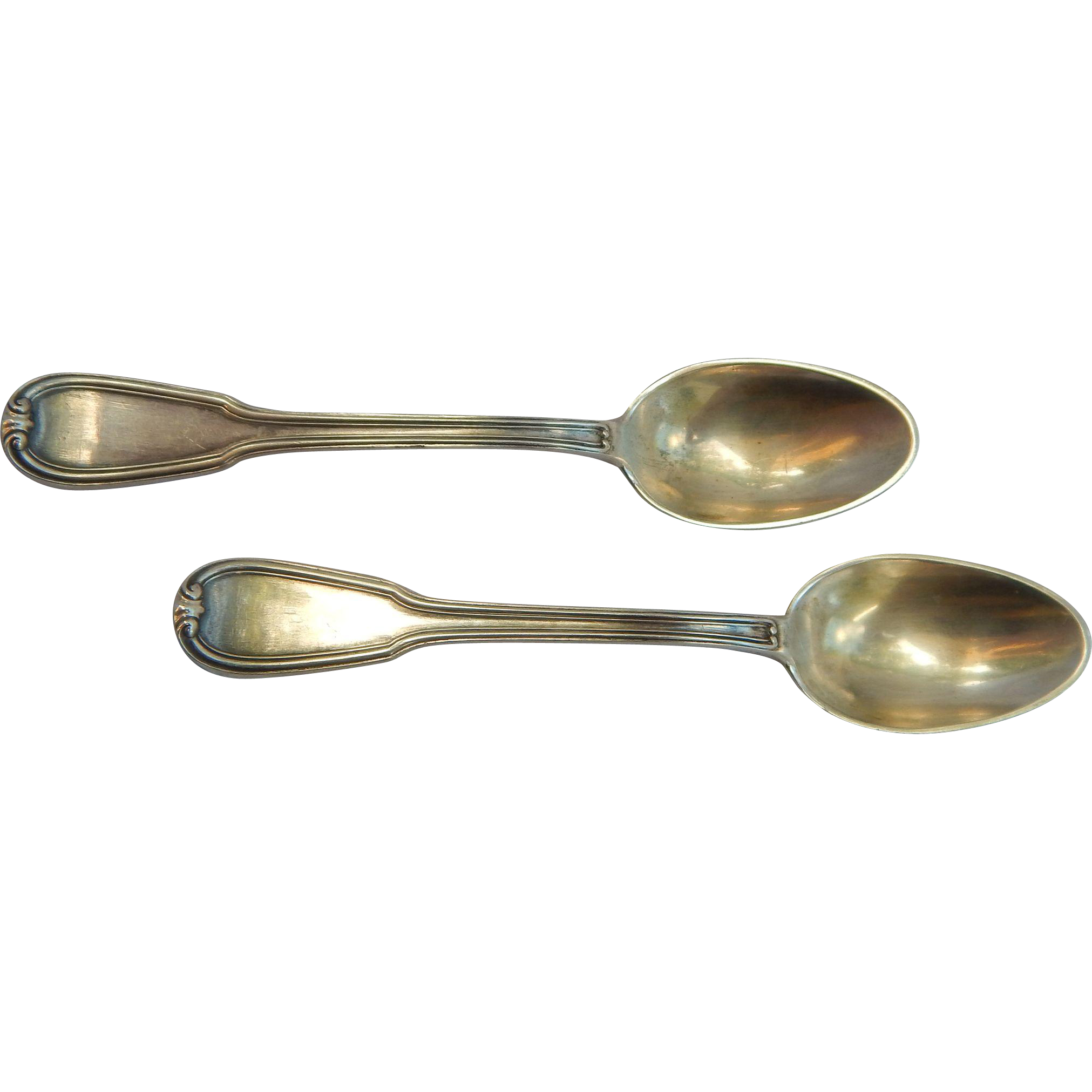 800 Silver Demitasse Spoon Pair