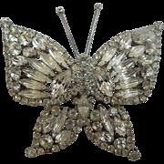 XL Rhinestone Butterfly Brooch