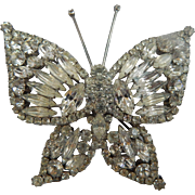 XL Rhinestone Butterfly Brooch