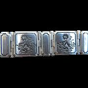 14k White Gold & Sterling Pelican Beach Bracelet