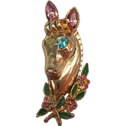 1948 Coro Victor Horse Head Brooch
