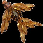 Topaz Stone Figural Bird Brooch