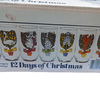 Anchor Hocking 12 Days of Chistmas Glasses