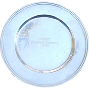 1952 Saints & Sinners Sterling Trophy Bread Plate