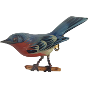 Takahashi Eastern Bluebird Bird Brooch