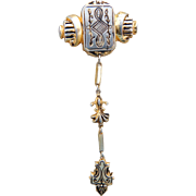 Spanish Damascene Fur Clip