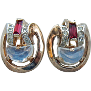 Trifari Phillipe Clair De Lune Earrings