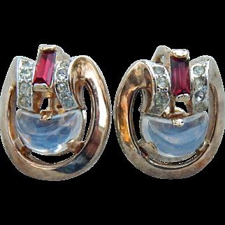 Trifari Phillipe Clair De Lune Earrings