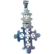 Large Hinged Mexican Silver Cross