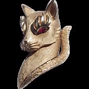Trifari Kitty Cat Brooch