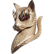 Trifari Kitty Cat Brooch