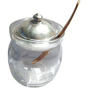 Whiting Sterling Strawberry Jam Jar